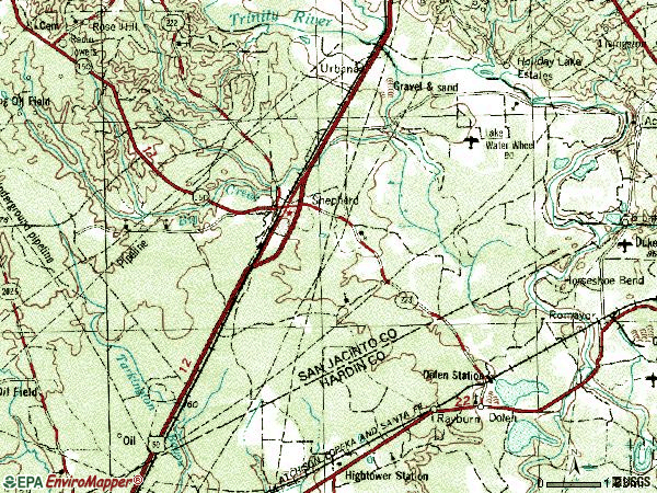Zip code 77371 topographic map