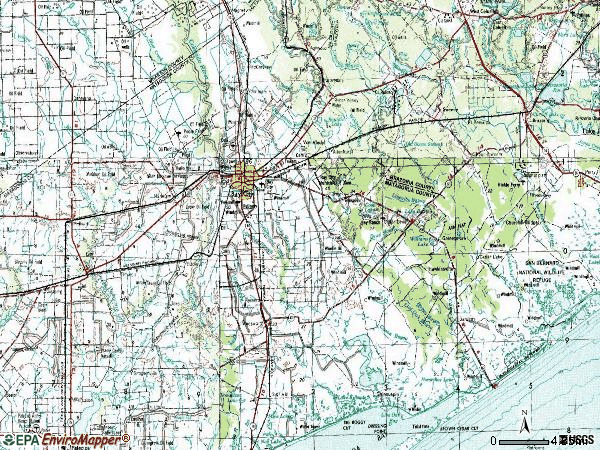 Zip code 77414 topographic map