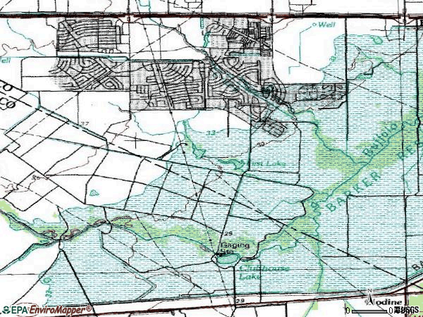 Zip code 77450 topographic map
