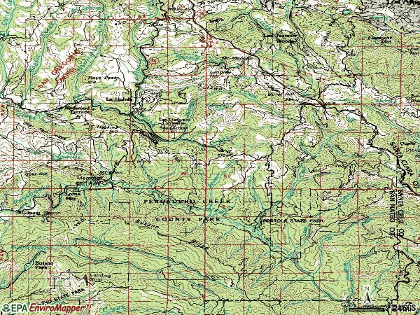 Zip code 94020 topographic map