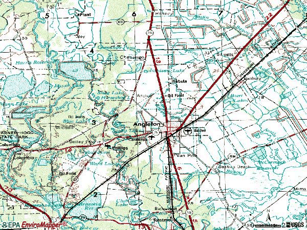 Zip code 77515 topographic map