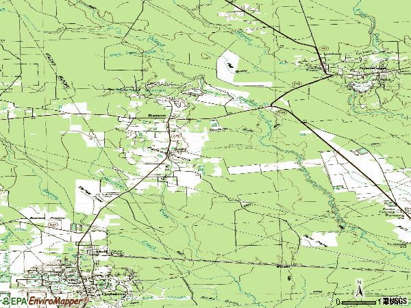 Zip code 77519 topographic map