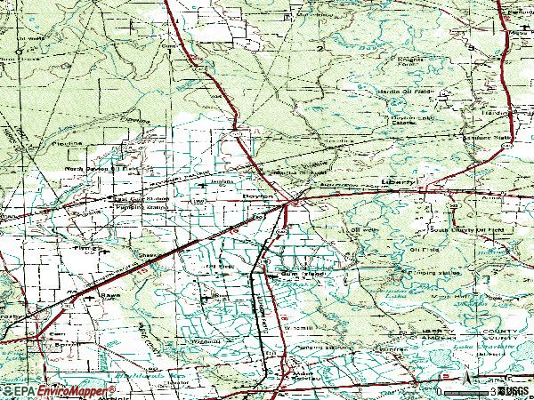 Zip code 77535 topographic map