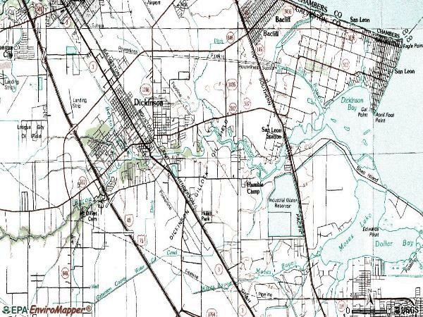 Zip code 77539 topographic map