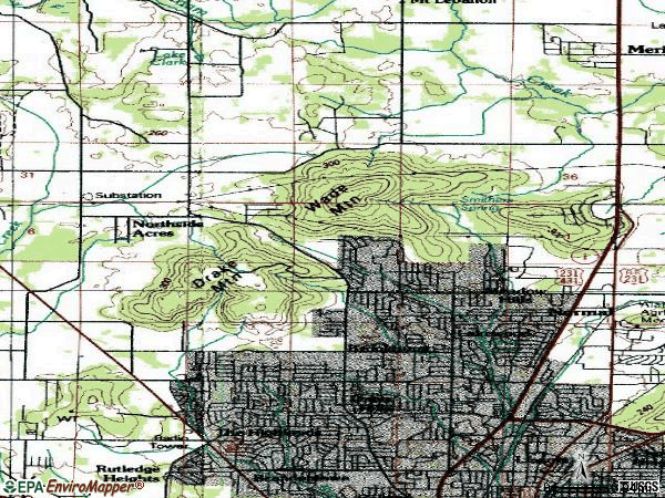 Zip code 35810 topographic map