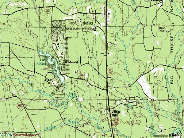 Zip code 77663 topographic map
