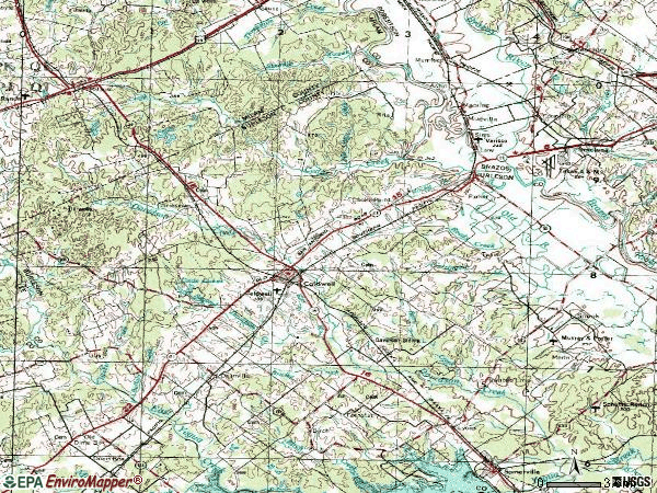 Zip code 77836 topographic map