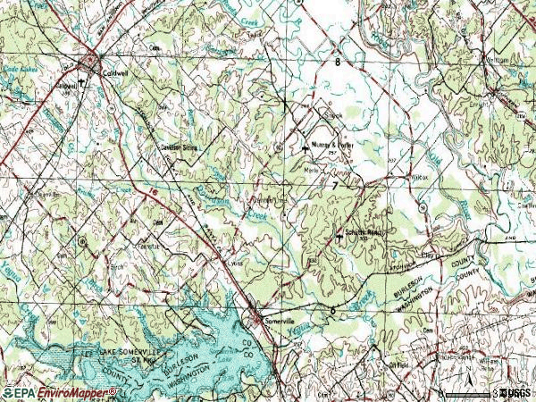 Zip code 77879 topographic map