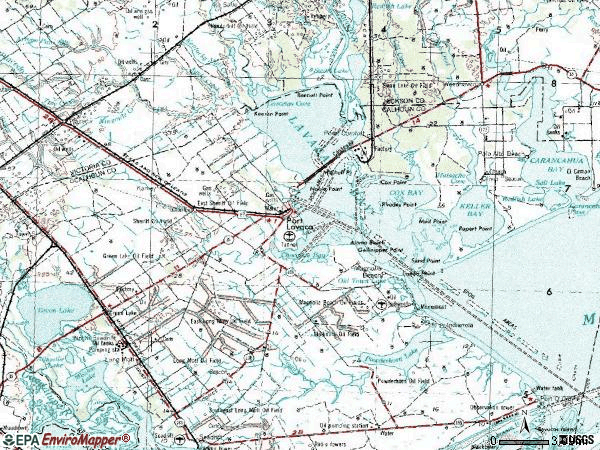 Zip code 77979 topographic map