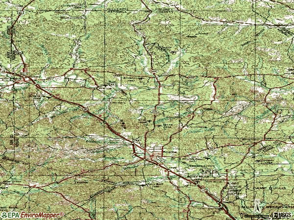 Zip code 78006 topographic map