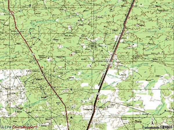 Zip code 78019 topographic map