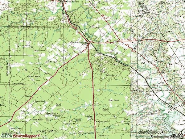 Zip code 78022 topographic map