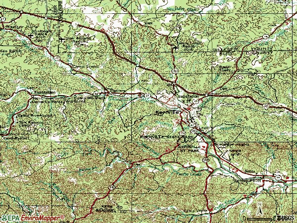 Zip code 78028 topographic map