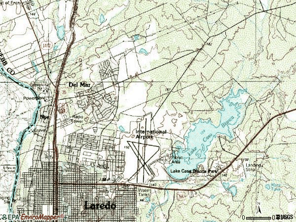 Zip code 78041 topographic map