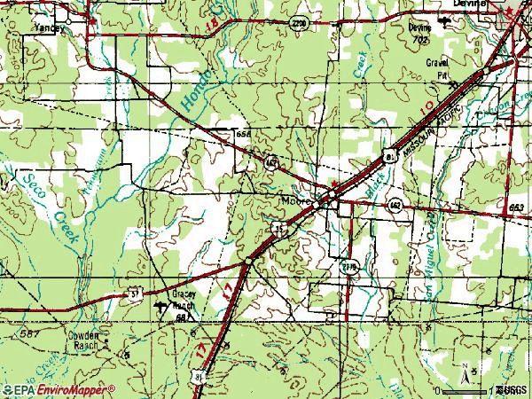 Zip code 78057 topographic map