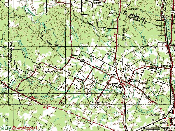 Zip code 78065 topographic map