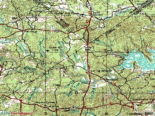 Zip code 78070 topographic map