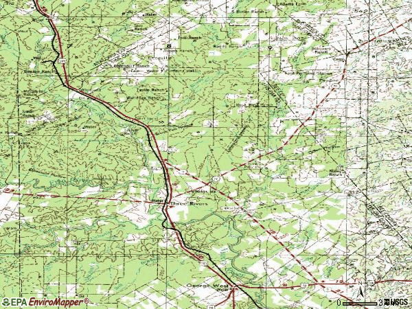 Zip code 78071 topographic map