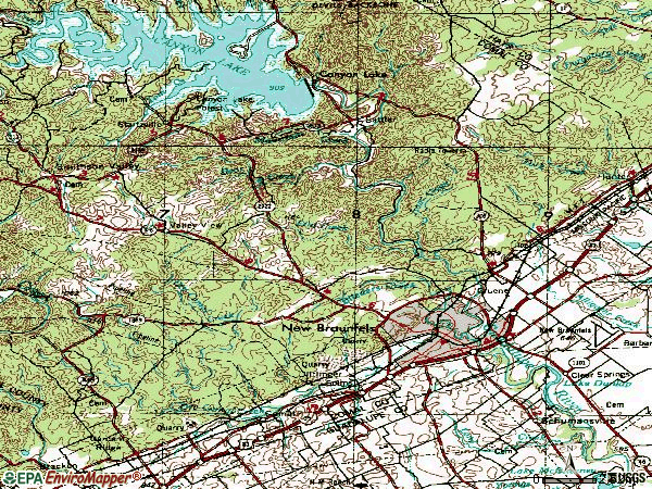 Zip code 78132 topographic map