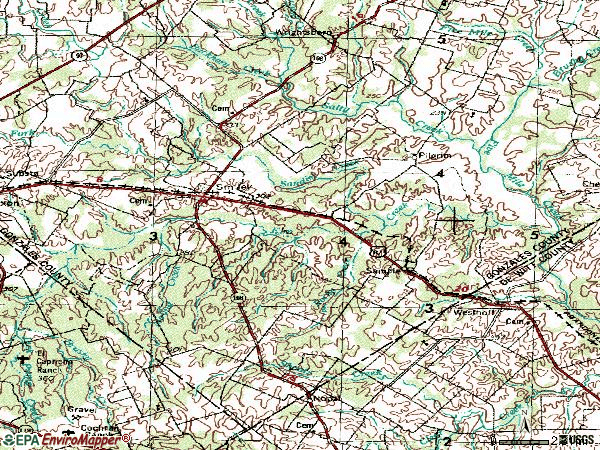Zip code 78159 topographic map