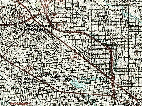 Zip code 78201 topographic map