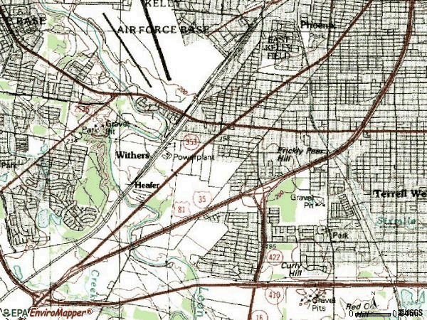 Zip code 78211 topographic map