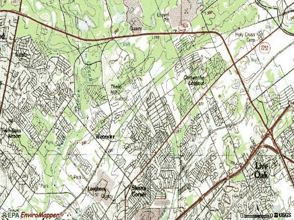 Zip code 78247 topographic map