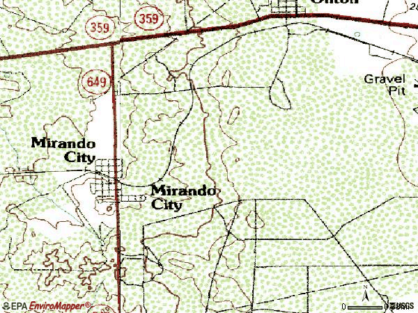 Zip code 78369 topographic map