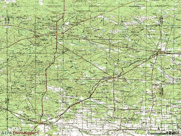Zip code 78384 topographic map