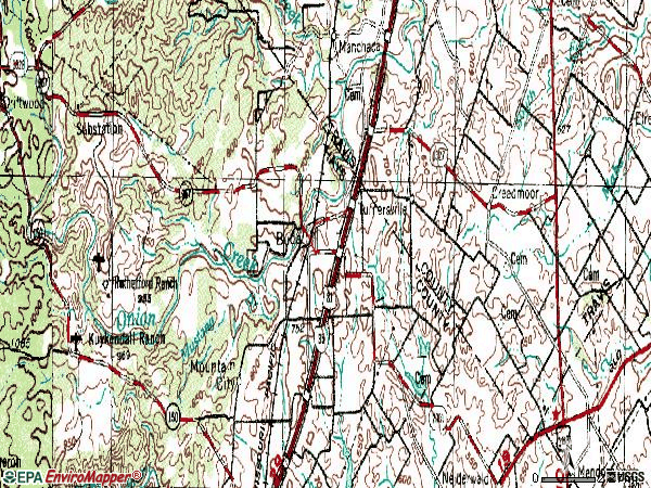 Zip code 78610 topographic map