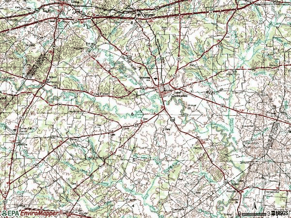 Zip code 78629 topographic map