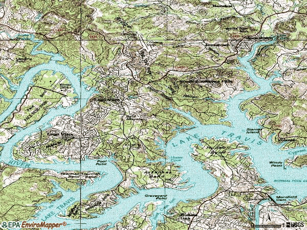 Zip code 78645 topographic map