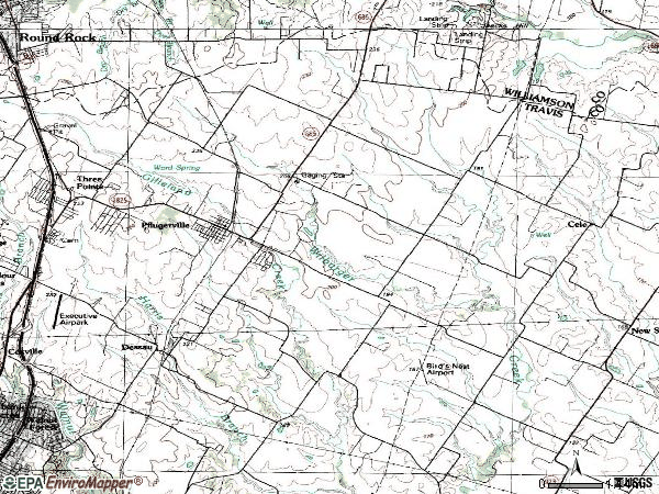 Zip code 78660 topographic map