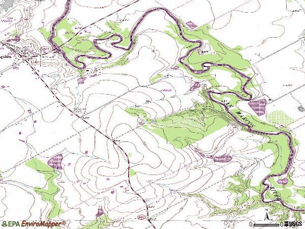 Zip code 78670 topographic map