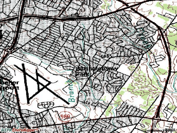 Zip code 78723 topographic map