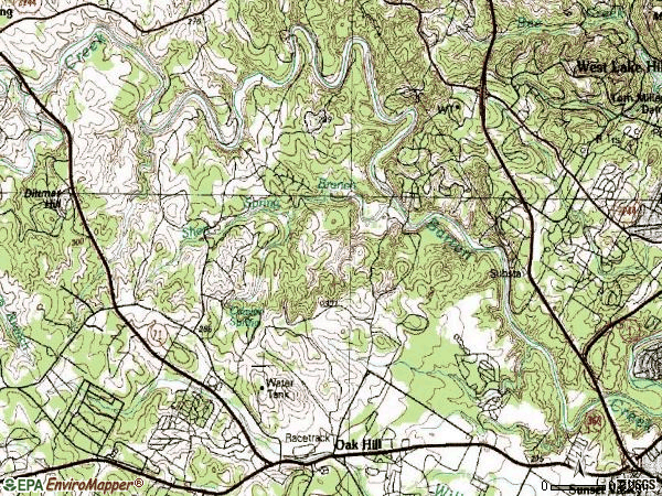 Zip code 78735 topographic map