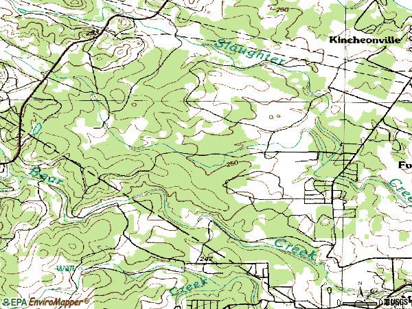 Zip code 78739 topographic map