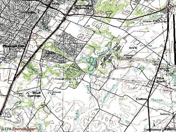 Zip code 78744 topographic map