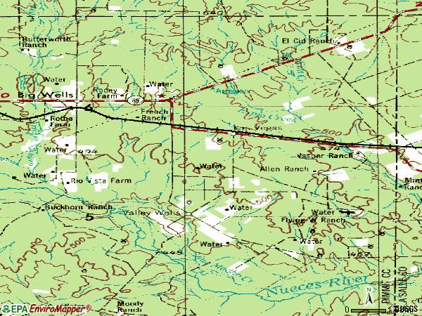 Zip code 78830 topographic map