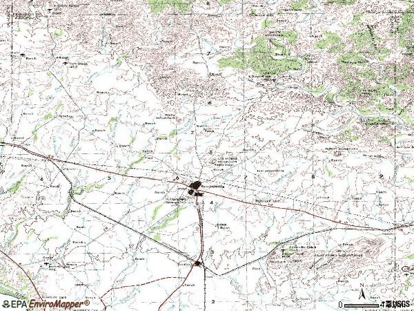 Zip code 78832 topographic map