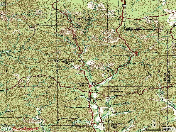 Zip code 78873 topographic map