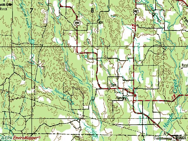 Zip code 78886 topographic map