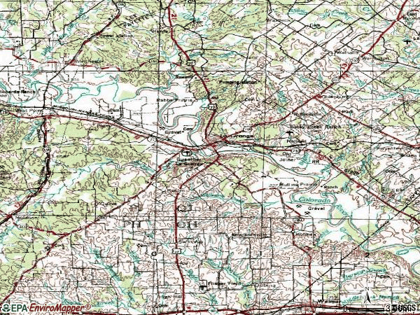 Zip code 78945 topographic map