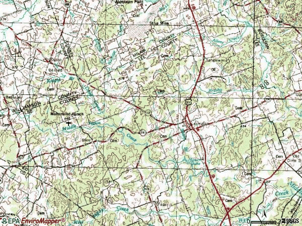Zip code 78947 topographic map
