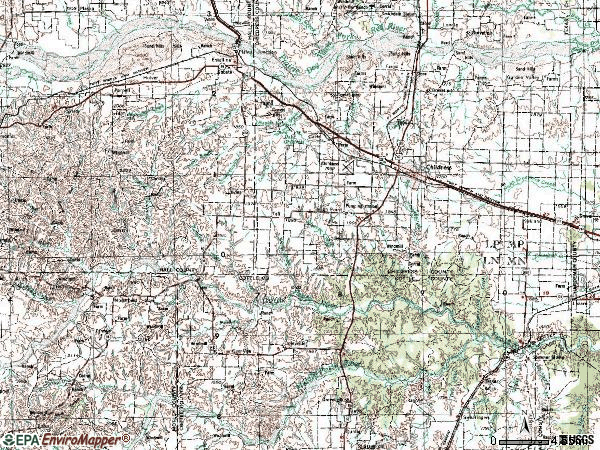Zip code 79201 topographic map