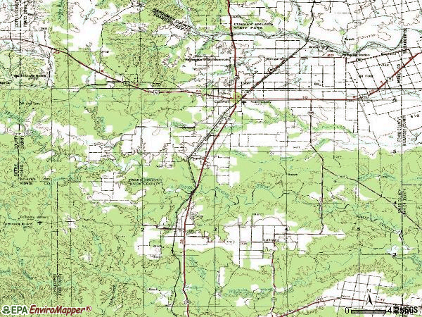 Zip code 79227 topographic map