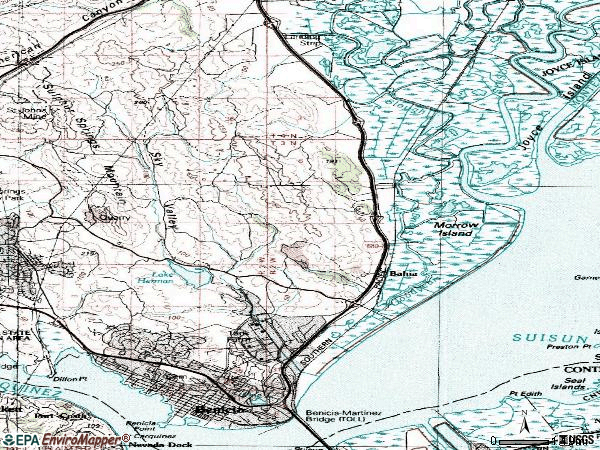 Zip code 94510 topographic map