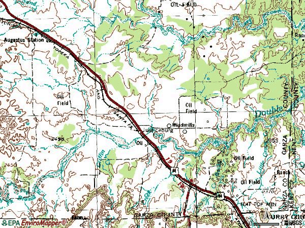Zip code 79330 topographic map