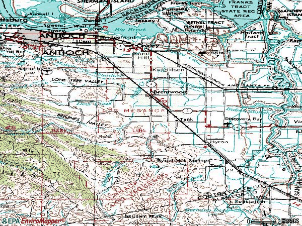 Zip code 94513 topographic map
