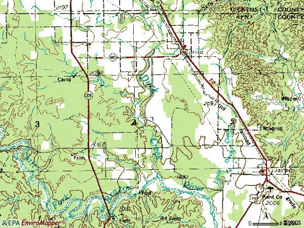 Zip code 79518 topographic map